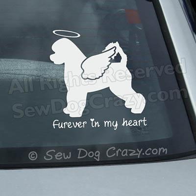 Angel Portuguese Water Dog Car Sticker