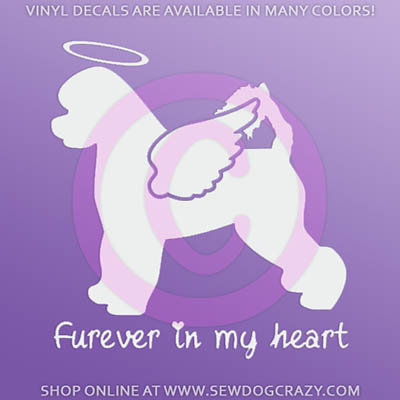Angel Portuguese Water Dog Car Stickers