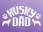 Siberian Husky Dad Car Decal