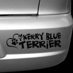 Love My Kerry Blue Terrier Car Sticker