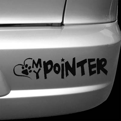 Love My Pointer Car Decal