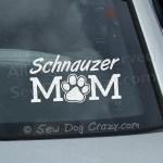 Schnauzer Mom Car Window Stickers