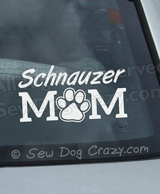 Schnauzer Mom Car Window Stickers