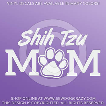 Vinyl Shih Tzu Mom Decals