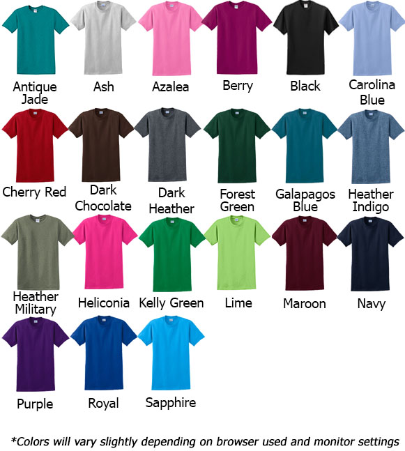 Gildan TShirt Colors