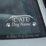 Custom Dog Agility Car Window Sticker