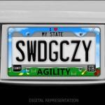 Love Agility License Plate Frame