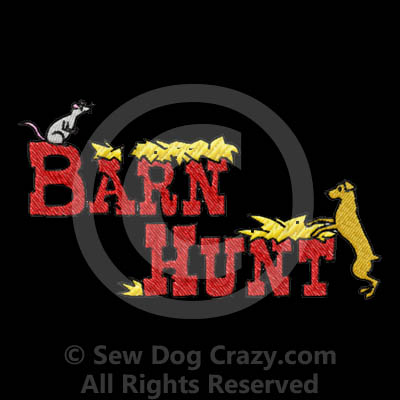 Embroidered Barn hunt Totes
