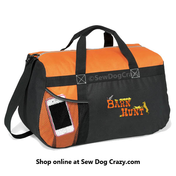 Embroidered Barn hunt duffel