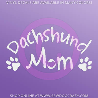 Dachshund Mom Car Stickers