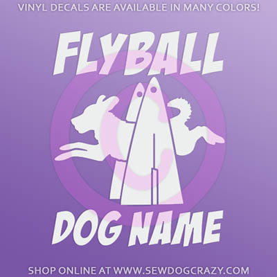 Personalized Flyball Decal