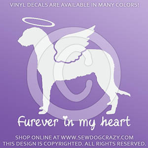Custom Angel Irish Wolfhound Decal