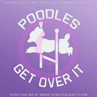 Agility Poodle Car Stickers