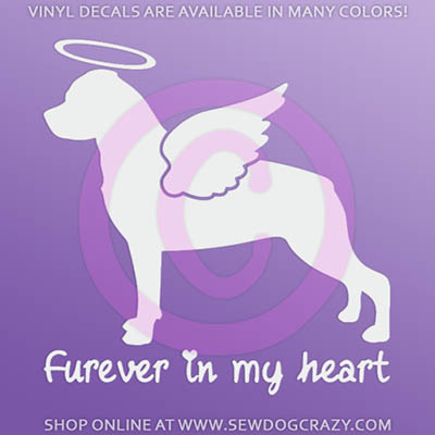 Angel Rottweiler Car Sticker