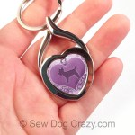 Purple Yorkie Keychain Puppy Cut