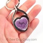 Purple Yorkie Keychain Puppy Cut
