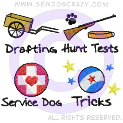 Carting Hunt Test Service Dog Trick Dog