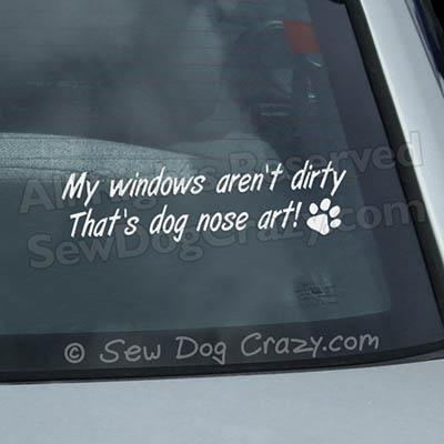 Dog Nose Art Car Window Sticker