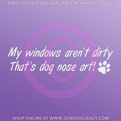 Dog Nose Art Car Window Sticker