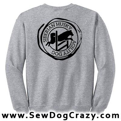 Siberian Husky Agility Sweatshirts