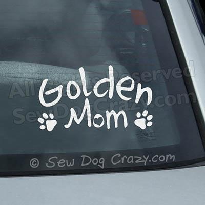Golden Retriever Mom Car Window Sticker