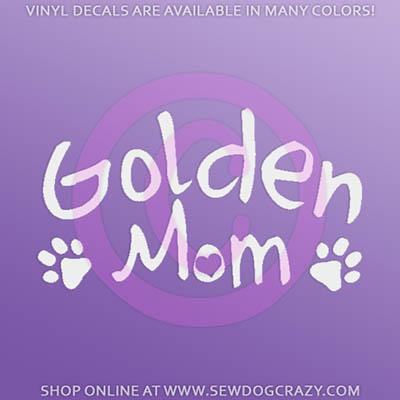 Golden Retriever Mom Decals