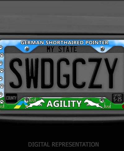GSP Agility License Plate Frame