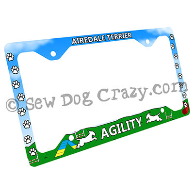 Airedale Agility License Plate Frame