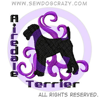 Airedale Terrier Embroidered Shirts