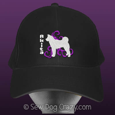Embroidered Akita Hat
