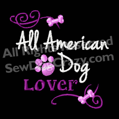 Embroidered All American Dog Shirts