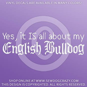 Funny English Bulldog Vinyl Sticker
