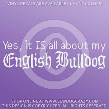 Funny English Bulldog Vinyl Sticker