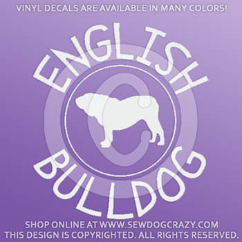 Vinyl English Bulldog Decals