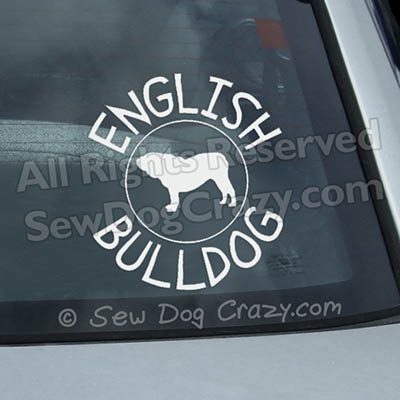 English bulldog Window Sticker