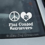 Peace Love Flat Coated Retriever Sticker