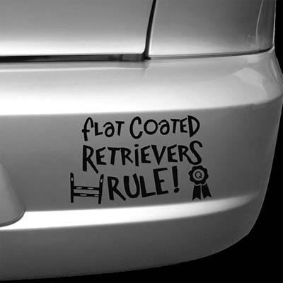Flat Coated Retriever Car Sticker