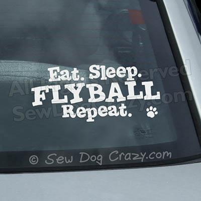 Eat Sleep Flyball Car Window Sticker