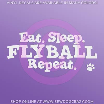 Eat Sleep Flyball Car Decal