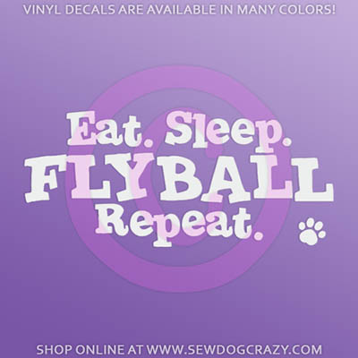 Eat Sleep Flyball Car Decal