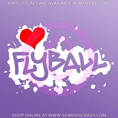 Love Flyball Car Decal