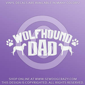 Irish Wolfhound Dad Vinyl Decal