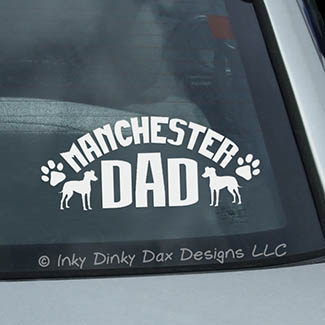 Manchester Terrier Dad Car Window Sticker