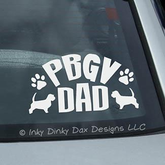 PBGV Dad Car Window Sticker