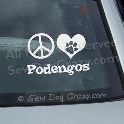 Portuguese Podengo Car Window Sticker