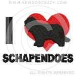 I Love Schapendoes Shirts