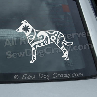 Paisley Smooth Collie Car Window Sticker