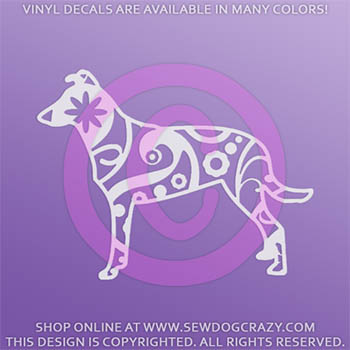 Paisley Smooth Collie Car Decal