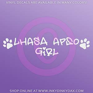 Lhasa Apso Girl Decal