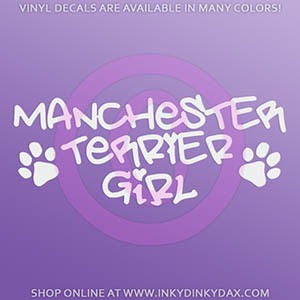 Manchester Terrier Girl Decal